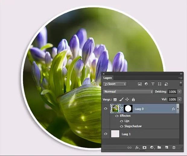 tutorial  fotos in rondjes plaatsen in Photoshop