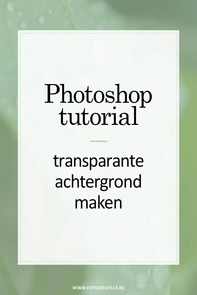 tutorial  transparante achtergrond maken  Fotografille