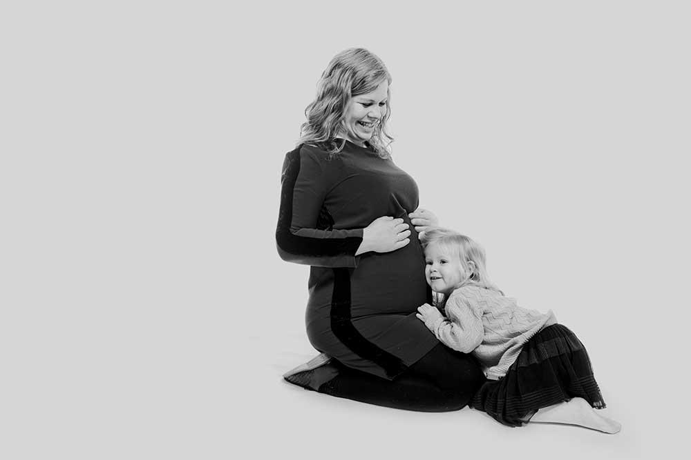 Kreativ gravid fotografering