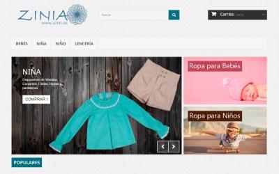 Zinia.es, Ropa infantil para niños