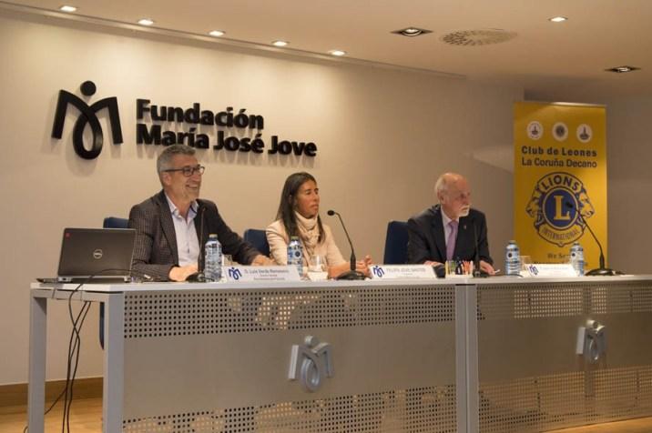 Representante Club de los leones en Fundación María José Jove