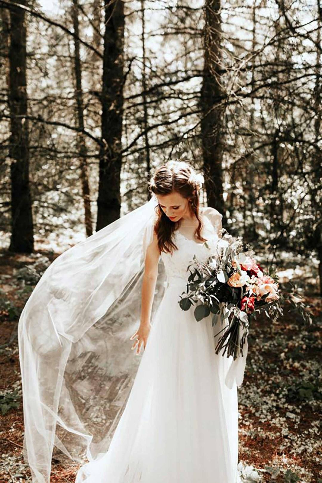 bruden i skov i Nordjylland