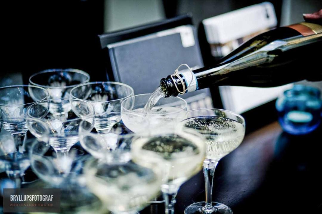 champagne bryllup esbjerg
