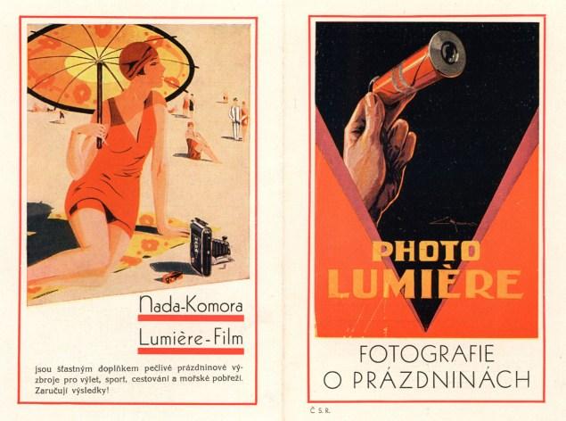 I barevné reklamy tehdy existovaly - zde v podobě letáku vloženého do časopisu...