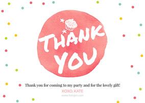 create birthday thank you
