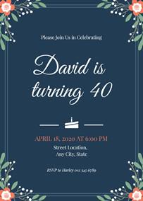 make 40th birthday invitations