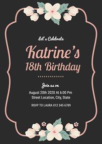 make 18th birthday invitations online
