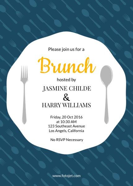generic brunch party invitation