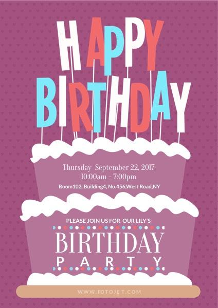 birthday poster maker design
