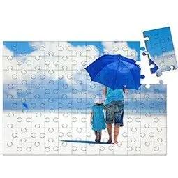 Houten puzzel met foto extra groot