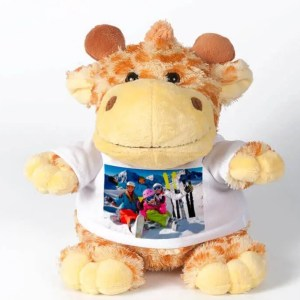 Knuffel met foto Giraffe