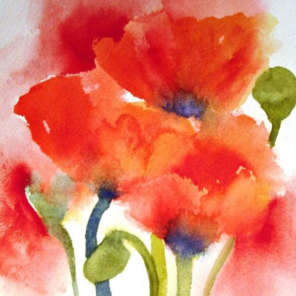 Foto op aquarelpapier 100x100cm