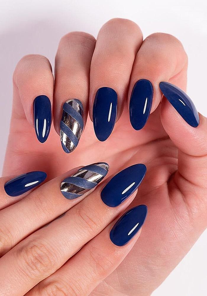 втирка для ногтей синий ленты