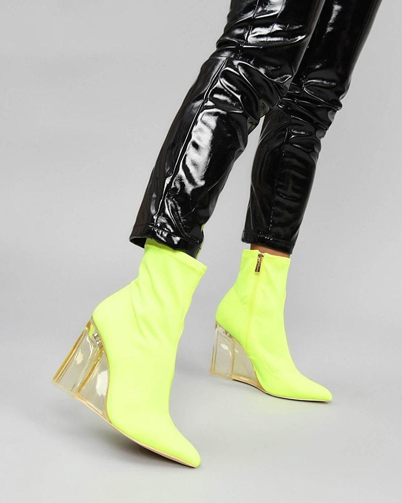 модная обувь ботинки желтые
