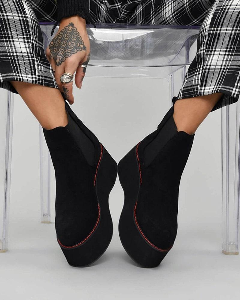 модная обувь ботинки платформа