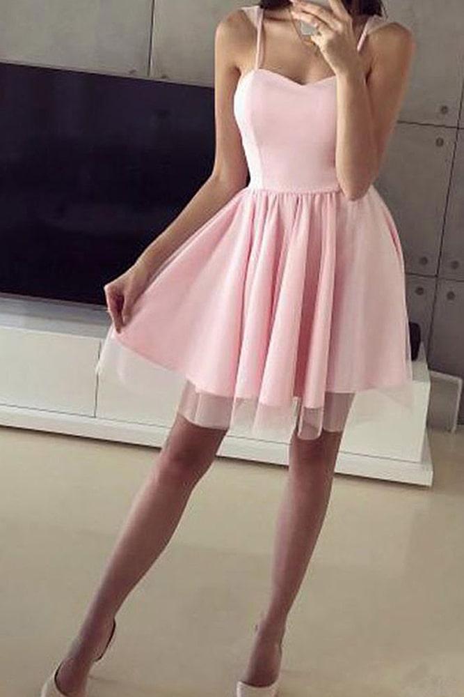 коктейльные платья розовое фатин