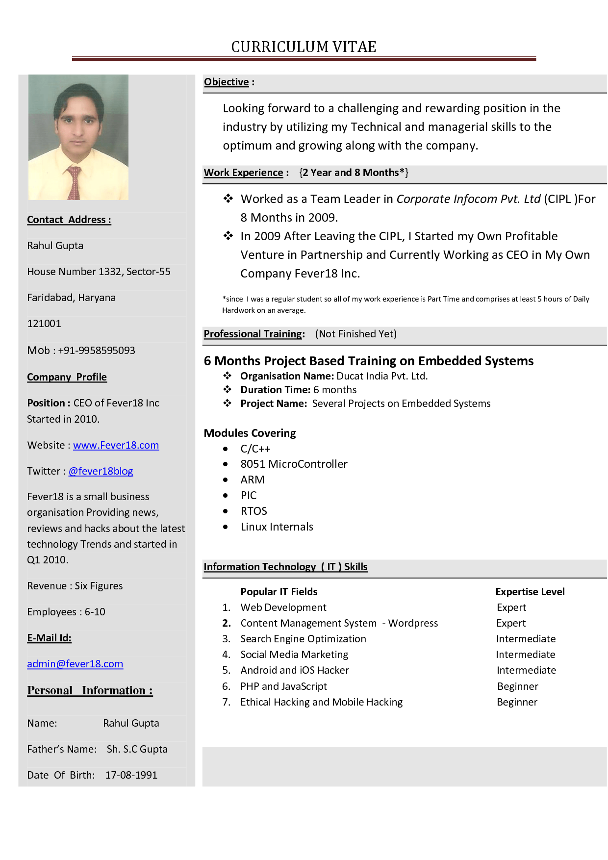 how to create my resume for tk category curriculum vitae