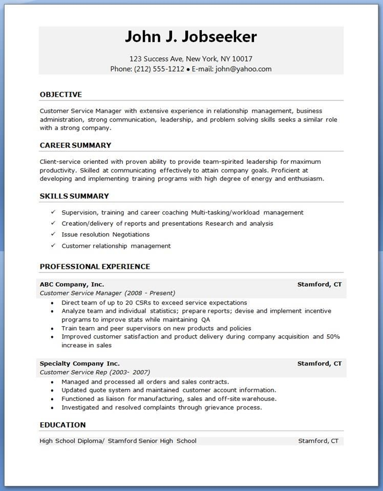 resume word picture