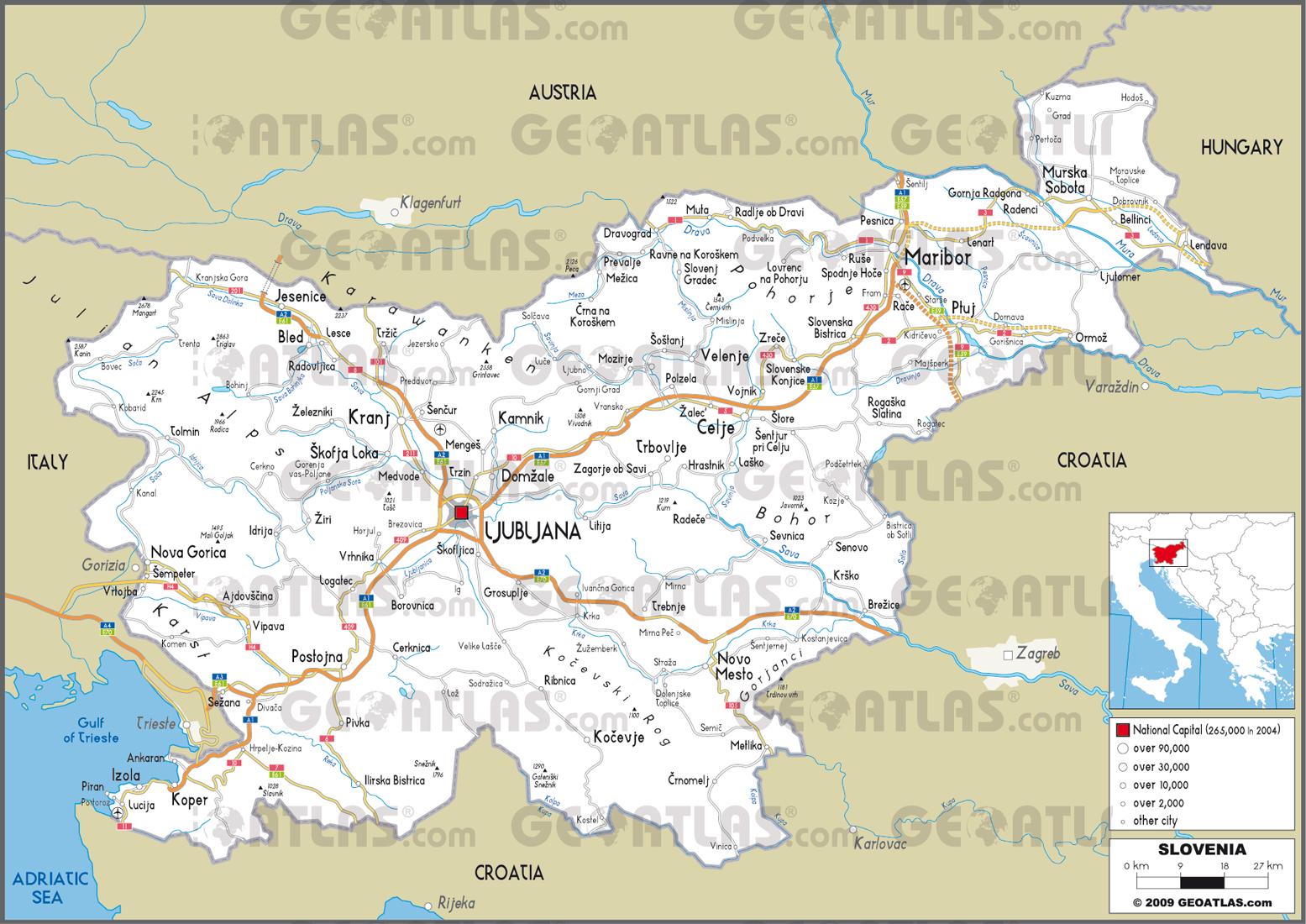 Slovenia Map  Fotolip
