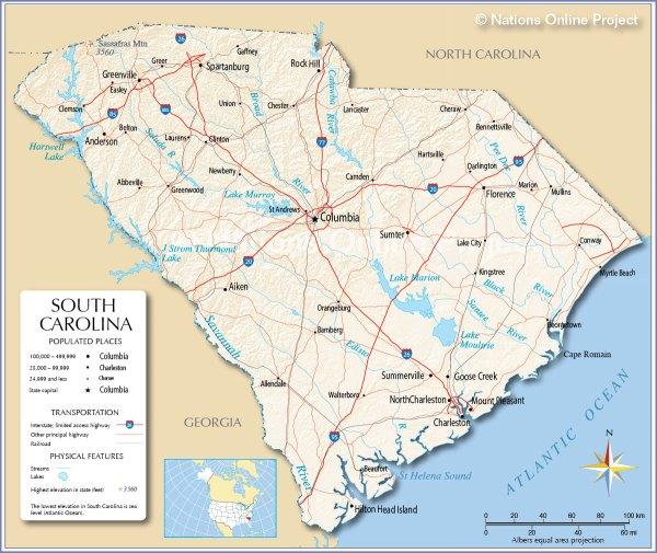 Maps of South Carolina Fotolip