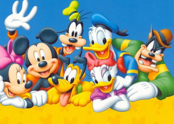 Mickey Mouse Disney Cartoon Characters