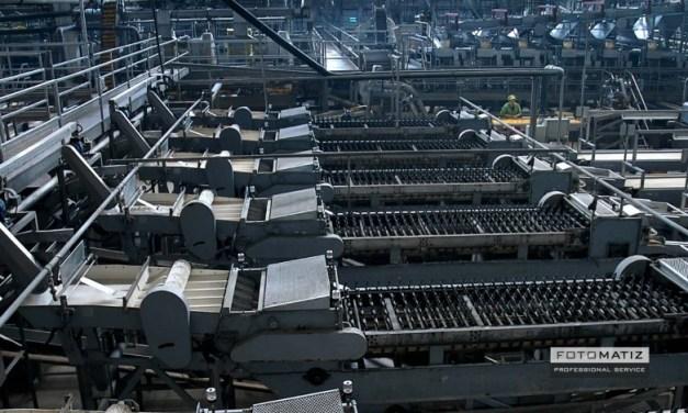 Hugh empty production plant