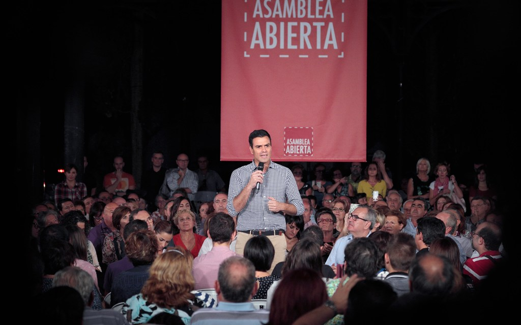 Pedro Sánchez leader of the socialist party