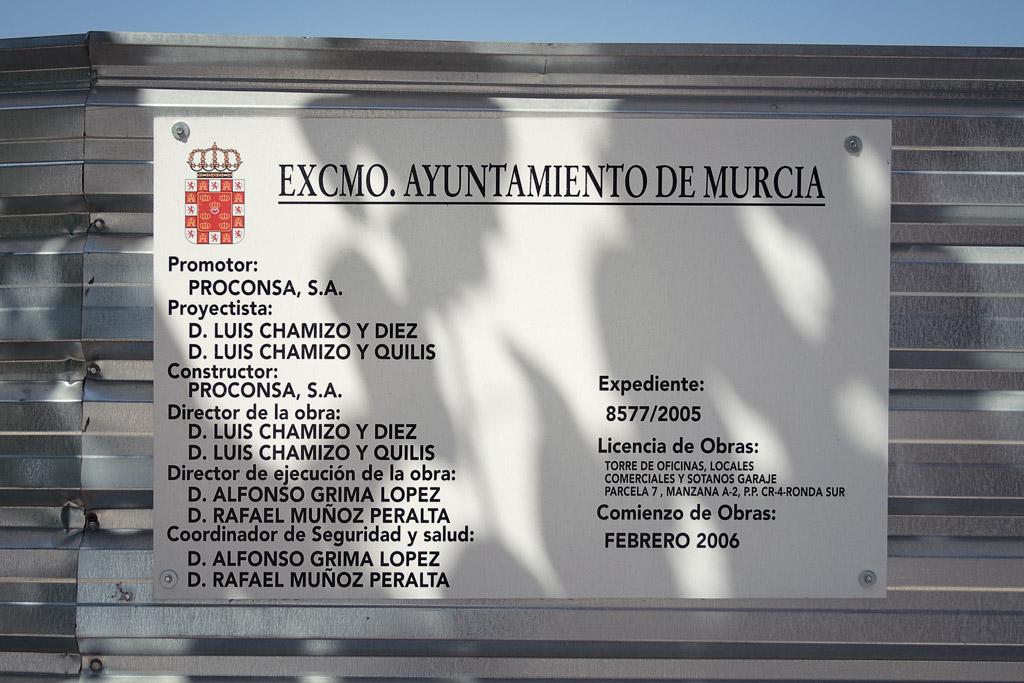Expediente 8577/2005. La construcción de Torreproconsa inicia en 2006