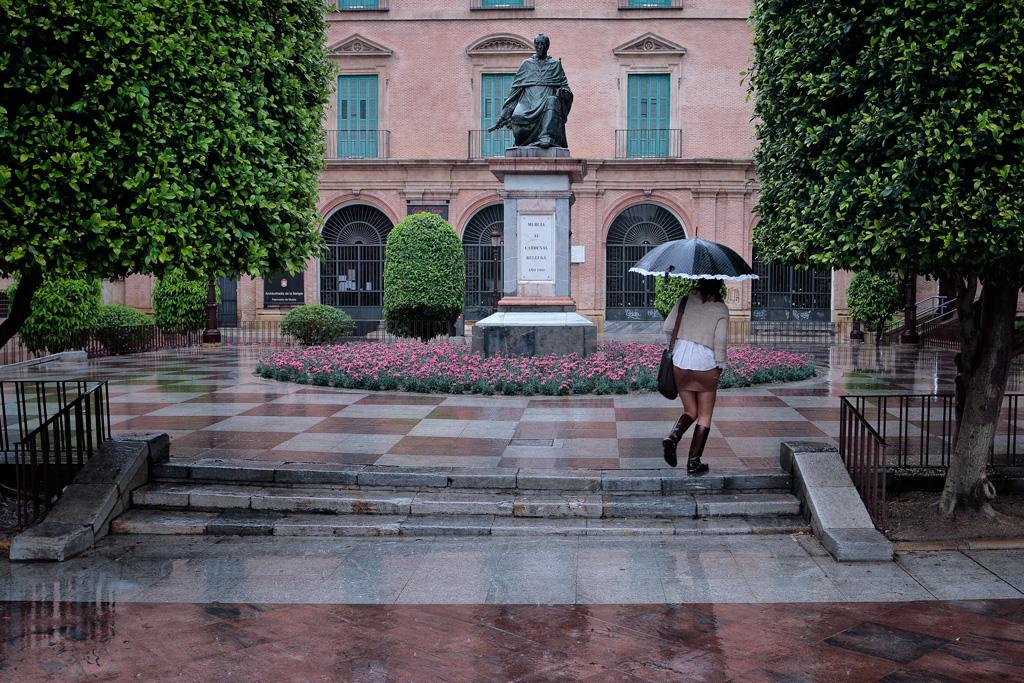 Lluvia en Murcia