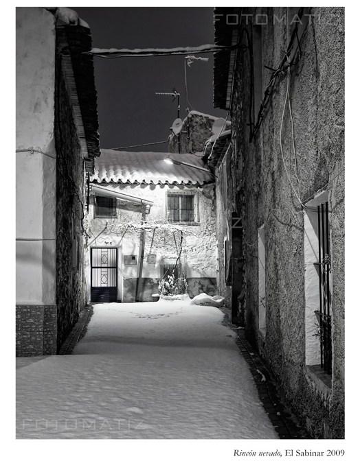 Rincón nevado en el Sabinar