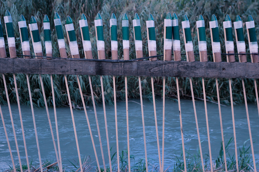 Rockets on the bank of the river Segura