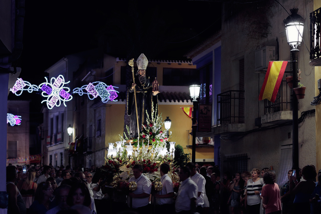 San Agustín en procesión por Ojós