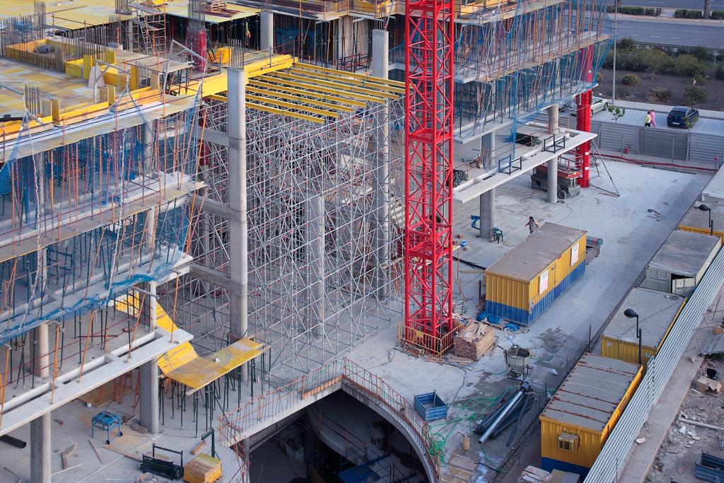Construcción hall de entrada