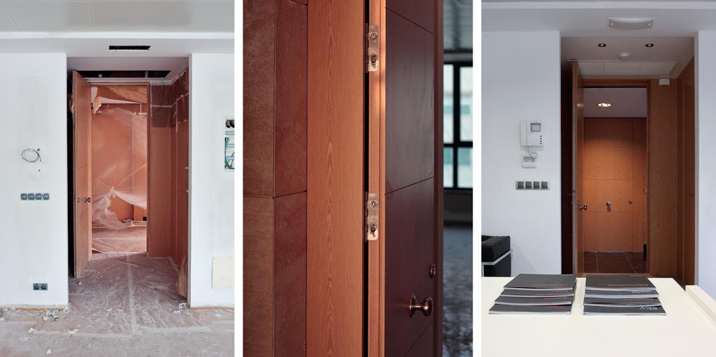 Instalación de la puertas madera
