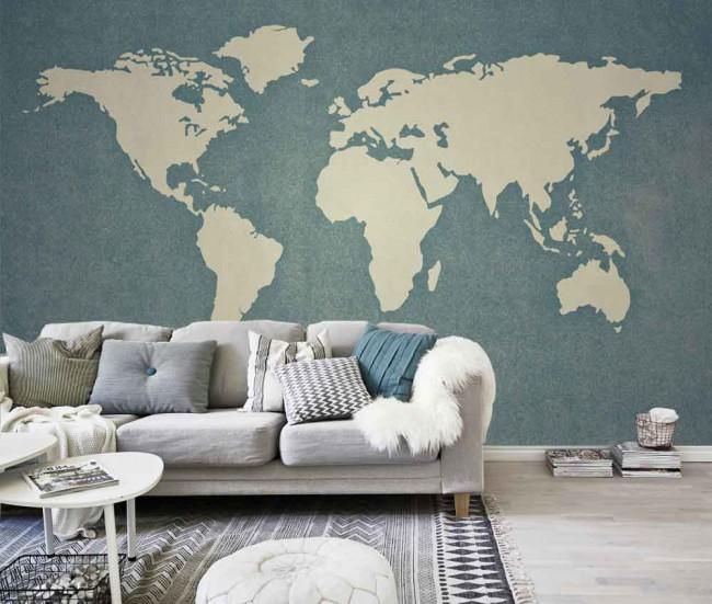 Fotomural mapamundi tienda online