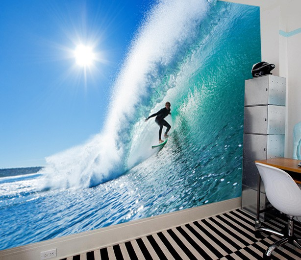 3d Effect Wallpaper For Living Room Fotomural Surf Tienda Online