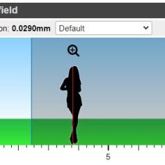 Pannello Depth of field (C) - immagine dell'applicazione