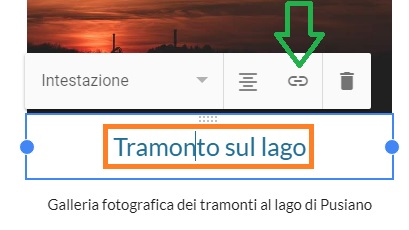 Google SItes - Aggiungere un link