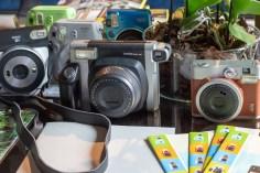 FujiFilm - sponsor dell'evento - e le sue instax camera