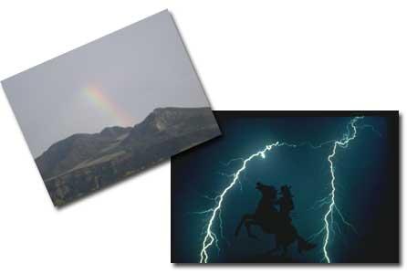 Fotografiar rayos, arco iris