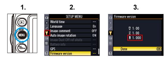 Nikon D90 D5000 ako zistiť verziu firmwaru