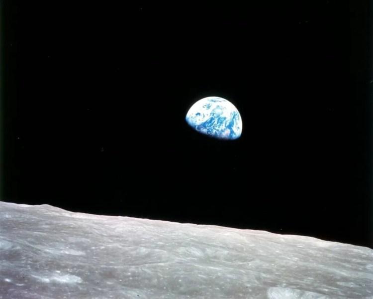 Primera vista de La Tierra desde La Luna - William Anders - 1968