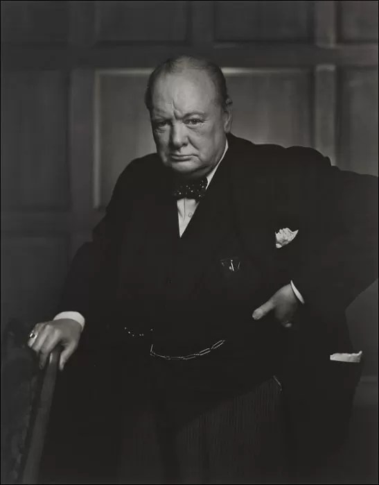 """Winston Churchill"" (Yousuf Karsh, Reino Unido, 1941)"