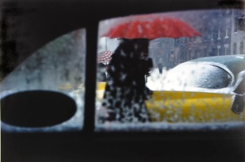 Red Umbrella - Saul Leiter.