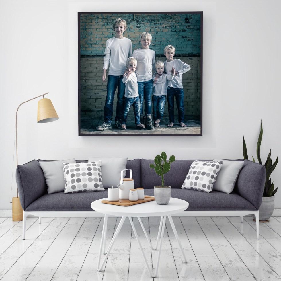 Jullie foto straks ook zo aan de muur?