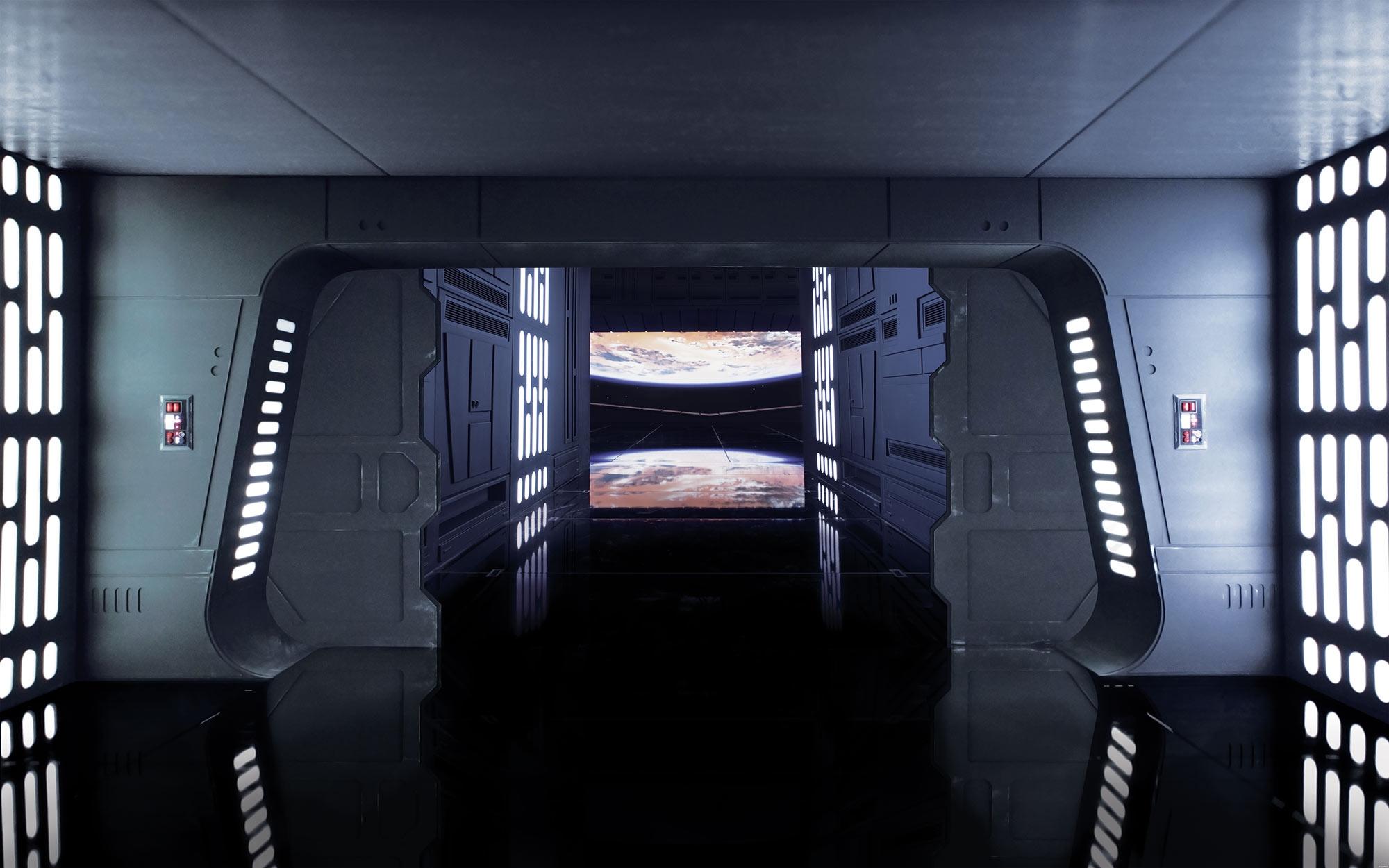 Vliestapete Star Wars Death Star Floor von Komar  fototapetede