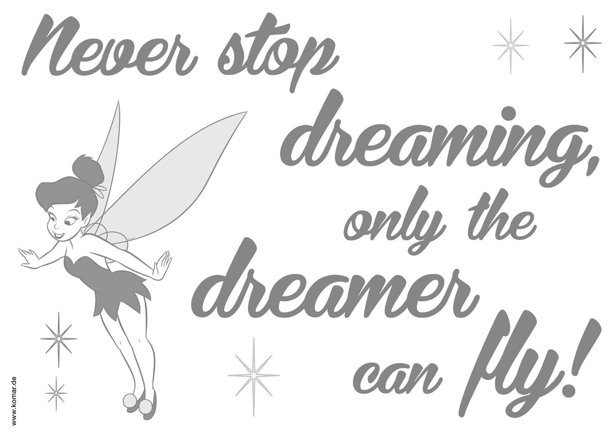 Wandsticker Never stop dreaming von Komar  Disney