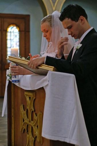 Para młoda po przysiędze małżeńskiej, Tarnowskie Góry