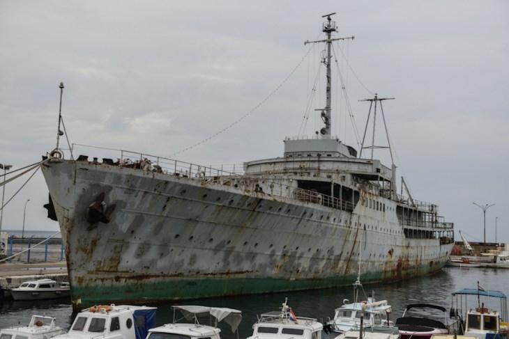 Croatia - old ship in Rijeka port / Chorwacja - stary statek wporcie, Rijeka