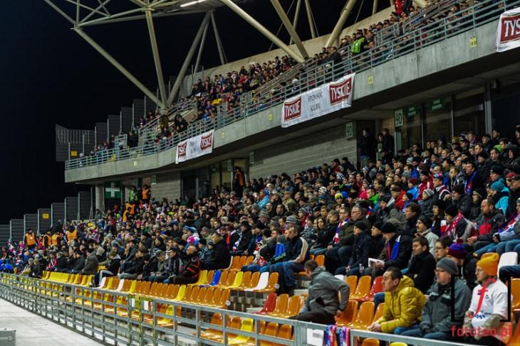 Stadion miejski Bielsko-Biała w trakcie przebudowy